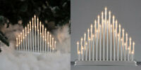 33 Light Candle Bridge Arch Christmas Window Table Decoration Silver/White/Black