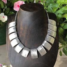 Artisan Contemporary Silver Necklace from Taxco Mexico