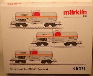 Märklin HO:  46471 NS Chemie-Kesselwagen-Set Millet   NEU + OVP