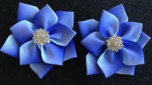 Girls/Toddler Quality Grosgrain Ribbon 8cm Hair Clips