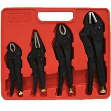 Neilsen CT0980 Locking Mole Grip Pliers, Black - 4 Pieces