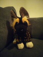 "Wild Republic 2017 African Wild Dog Hyena Soft Plush Toy Stuffed Animal 12"""