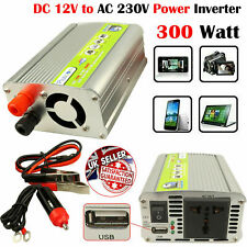 300W Car Usb Charger Port Vehicle Converter Power Inverter DC 12V to AC 230V UK