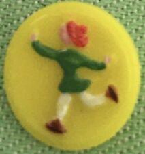 Yellow Glass Kiddie Button Skater