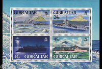 World War II Warships Souvenir Sheet mnh Gibraltar 1995