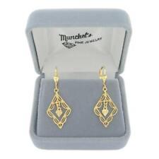 Ladies 18K Yellow Gold Dangle Pierced Earrings