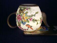 Chinese Qing Dynasty Fen Cai Bird and Flower Teapot - Yong Zheng Mark