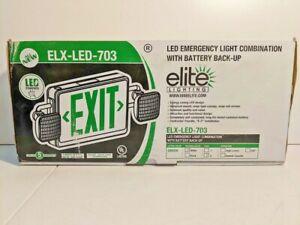 Elite LED Emergency Light Combination With Battery Back-Up ELX-LED-703