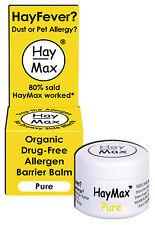HayMax ALLERGEN BARRIER BALM - PURE ORGANIC - DRUG FREE - HAYFEVER - NATURAL AU