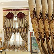 Chenille Embroidery Curtain Cloth Pelmet Voile Tulle Window Screen Drape Mordern
