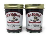 Mrs Millers Seedless Black Raspberry Jam (Amish Made) 2 / 9 Oz. Jars, Ships FREE