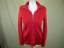 Liz Claiborne Cardigan Sweater Full Length Zipper Women's Red Size M