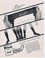 PUBLICITE ADVERTISING 045 1966 COLLEGIEN collants chaussettes