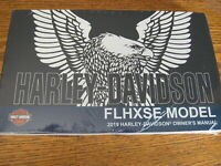 2019 Harley-Davidson FLHXSE CVO Street Glide Owners Owner's Manual New in Wrap