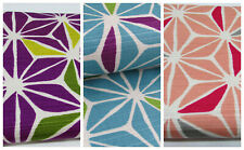 Bark cloth geometric flowers Sevenberry 100/% cotton japanese fabric per FQT