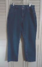 Rider's Women's size 14 P Five Pocket Washed Straight Leg Jeans Inseam 30 in.