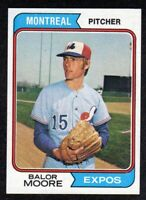 1974 Topps #453 Balor Moore Montreal Expos Baseball Card NM/MT