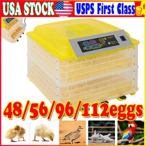 112 Digital Chicken Egg Incubator Hatcher Temperature Control Automatic Turning#