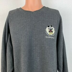 Walt Disney World Mickey Mouse 100 Years Of Magic Sweatshirt Vtg 2001 Sewn L