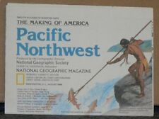 Vintage 1986 National Geographic Map of the Pacific Northwest