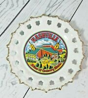 """MC Art Co. Nashville Decorative Wall Plate """"Home Of Country Music"""" Collectable"""