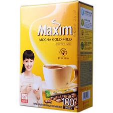 Korean Instant Coffee Mix Maxim Mocha Gold Mild 100 Sticks in 1 Pack V_e