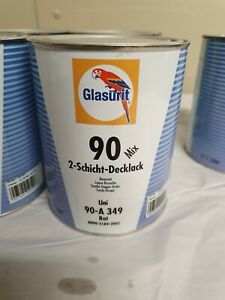 Glasurit 90 Line  90-A349  1 litre  Red Water Basecoat    BASF  mixing tinter