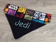Personalized Dog Bandana, in Black with Contrast Star Wars Print, in Sml or Med