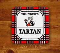 Youngers Tartan retro 'Beermat' - coaster