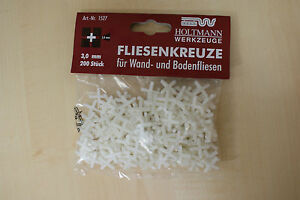 Fliesenkreuze 3 mm aus Kunststoff 200 Stck, neu & OVP