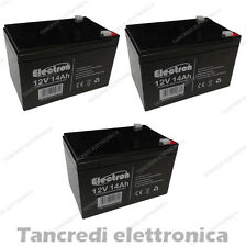 KIT BATTERIE 36V 14Ah GEL/AGM CICLICHE DEEP-CYCLE BICI ELETTRICA - 3 x 12V