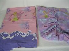 PURPLE TINKERBELL Twin Flat/Fitted Sheet (FABRIC, CRAFTS) GOOD CONDITION