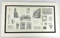 1897 Antique Print Ancient Egyptian Ramses Pharaoh Archaeology Architecture