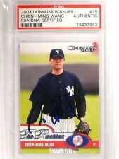 2003 Donruss Rookies Chien-Ming Wang Rookie Autograph PSA/DNA Certified *66715