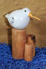 MDeko Möwe mit Poller aus Holz ca. 17 x 14 x 7 cm