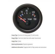 52mm Gauge Oil Temperature Deg C 50-150 Car black face with clear lens