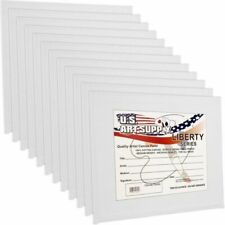 US Art Supply CP08X10-12PK 8 inchx10 inch Professional Artist Quality Acid Free Canvas Panels