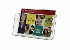 """Wall Mounted 7""""w Clear Acrylic Postcard Holder with Suction Cups"""