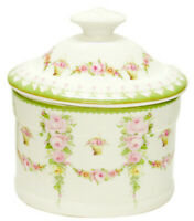 Victorian Rose Design Ceramic Trinket Box with Lid - 15cms - AU Shop