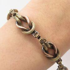 """Fashion Gold Filled Antique Victorian Knot Link Bracelet 8"""""""