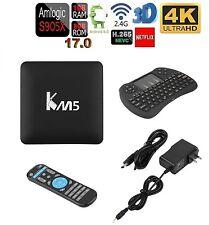 Pro S905X Smart TV BOX Android 6 Marshmallow Quad Core 8GB Box Keyboard 4K KM5