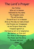 NEW The Lords Prayer Childrens A5 Card keepsake Inspiration Faith Christian Love