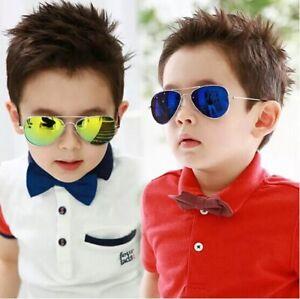 New Aviator Sunglasses For Kids Boys Girls Baby Children Toddler Eye Glasses