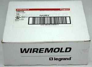 Box of 10 Wiremold LeGrand 5507R NM/Non-Metallic Rectangular Faceplate - Ivory