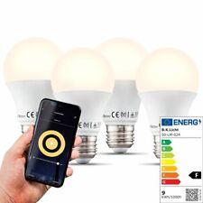 LED WiFi Leuchtmittel Smart Home Lampe dimmbar Birne E27 Alexa Google 9W 4er SET