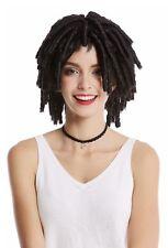 Perücke Damen Herren Spirallocken Afrolocken Afro Karibik Rasta Dreads schwarz
