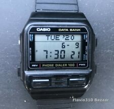 1989 Vintage CASIO DBA-100 (698) Phone Dialer Japan T 35mm watch - New Battery