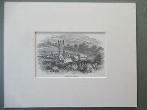 Antique Woodcut Engraving Sheepstor Church Dartmoor WILLIAM HENRY BOOT