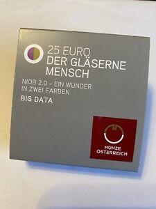 25 Euro Silber Münze Niob Österreich 2020 - Der gläserne Mensch - Big Data