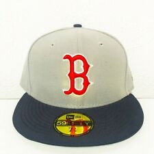 RARE NWT New Era Boston Red Sox MLB 59Fifty Fitted Hat Gray Navy Red 7 1/8